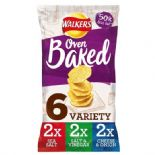 Walkers Baked Variety Crisps 6 x 25g